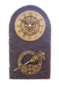 Tara Brooch slate wall clock.